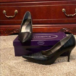 Leather upper Black pumps size 9.5